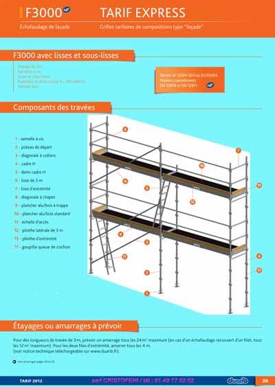 page d 39 accueil du catalogue duarib tableau prix pour tous chafaudages aluminium duarib. Black Bedroom Furniture Sets. Home Design Ideas