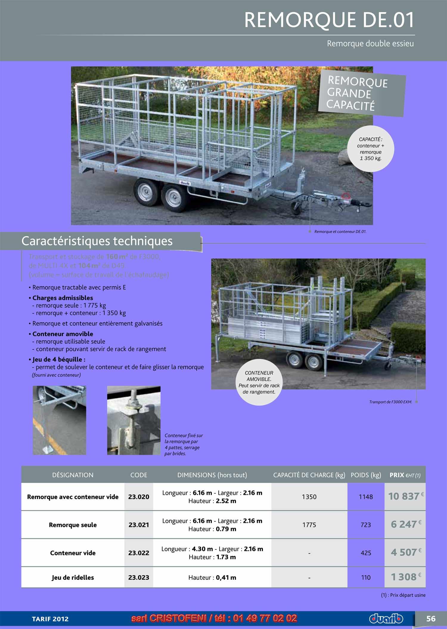 page 56 remorque a double essieux pour f3000 multi 4x et. Black Bedroom Furniture Sets. Home Design Ideas